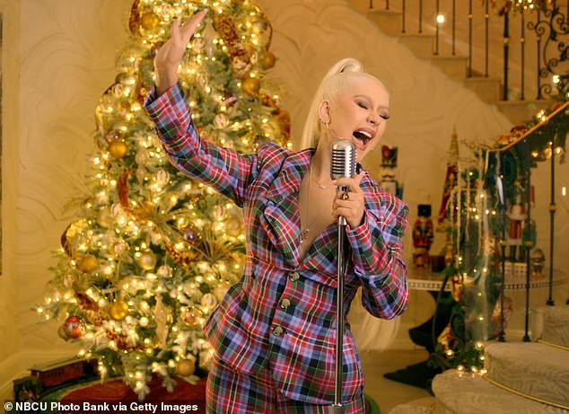 Christmas Carol: She appeared previously on Late Night with Seth Meyers this month, performing the Christmas song, which she covered in 1999 for her holiday album My Kind of Christmas.