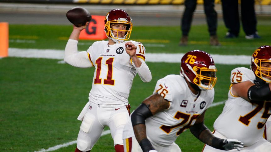 Alex Smith is officially active, Carson Wentz is inactive on Sunday night