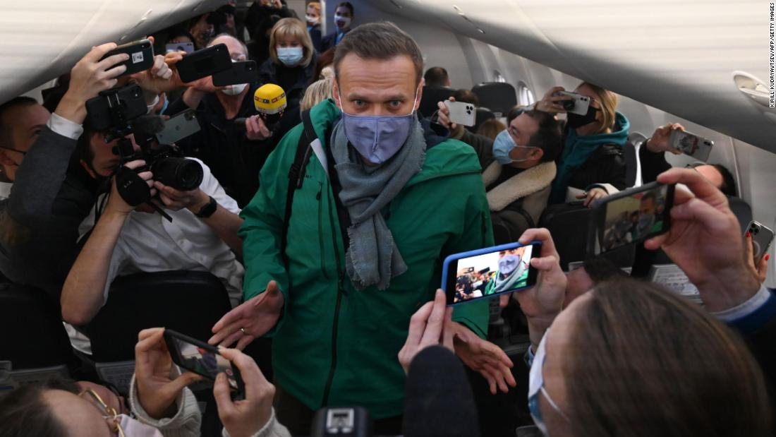 Alexei Navalny is returning to Russia five months after suffering poisoning
