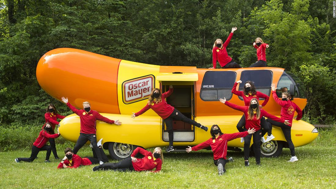 Oscar Mayer hires a team to drive the Wienermobile across the US