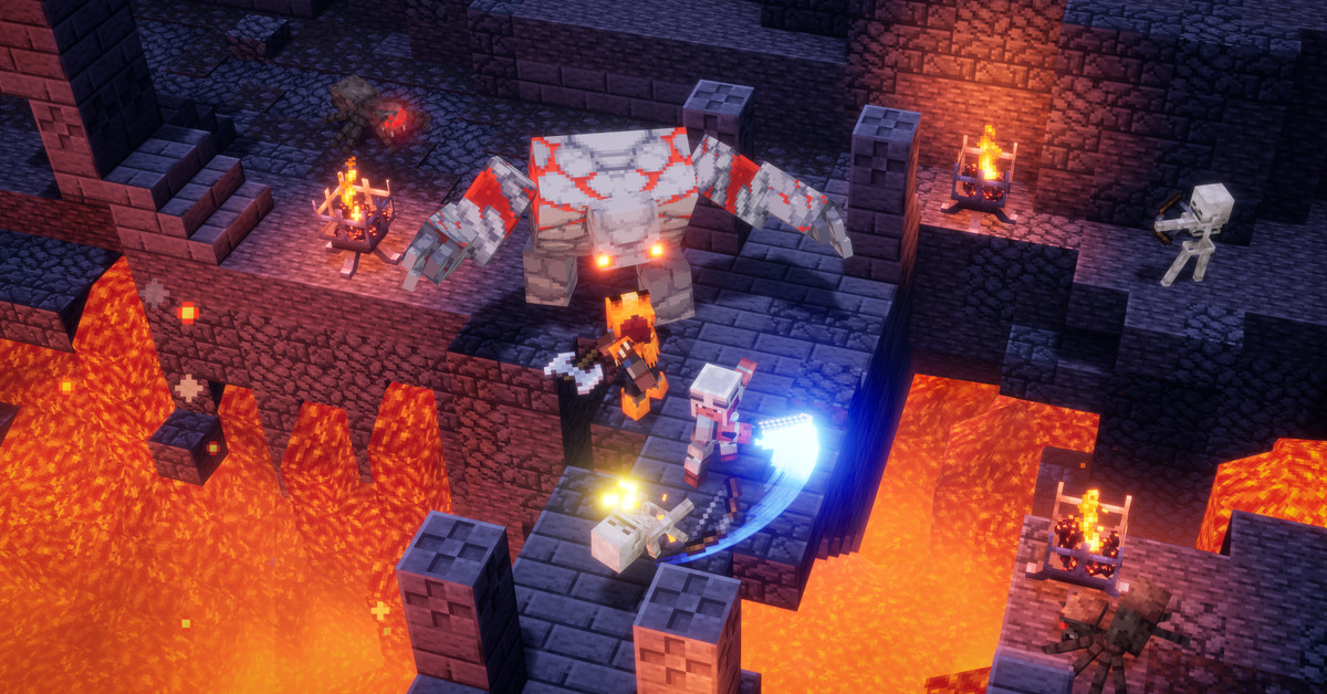 Mojang retires from old Minecraft Dungeons launcher