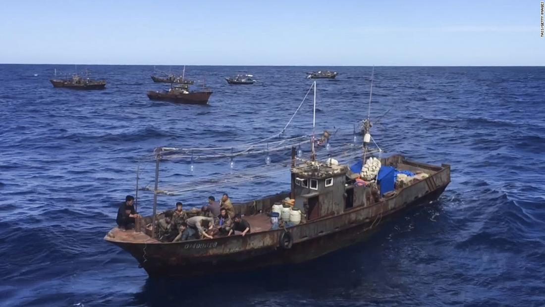 A non-governmental organization claims that squid fishing in North Korea has decreased in 2020