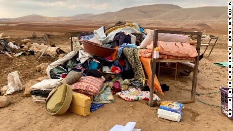 The United Nations and the European Union criticize Israel for demolishing the West Bank and leaving 73 Palestinians homeless