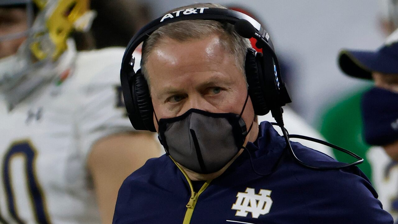 Brian Kelly of Notre Dame slams the media after losing to Alabama