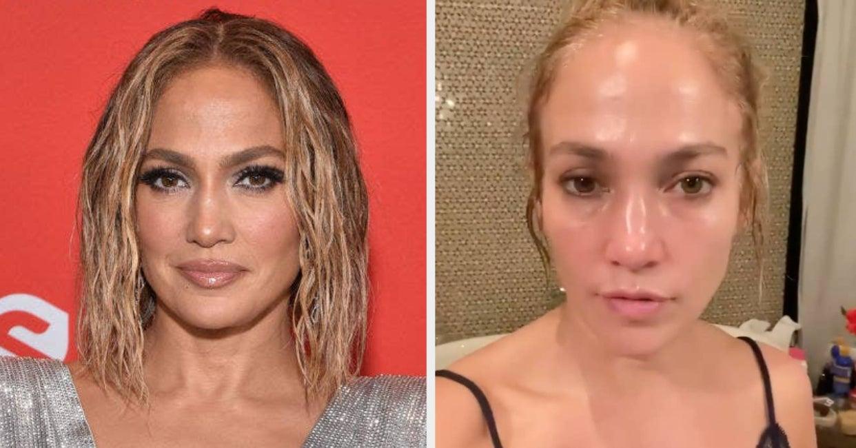 Jennifer Lopez denies Botox on Instagram, Skincare Post