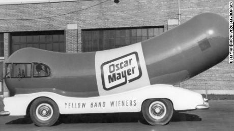 This Oscar Mayer Winermobile drove in the 1950s.