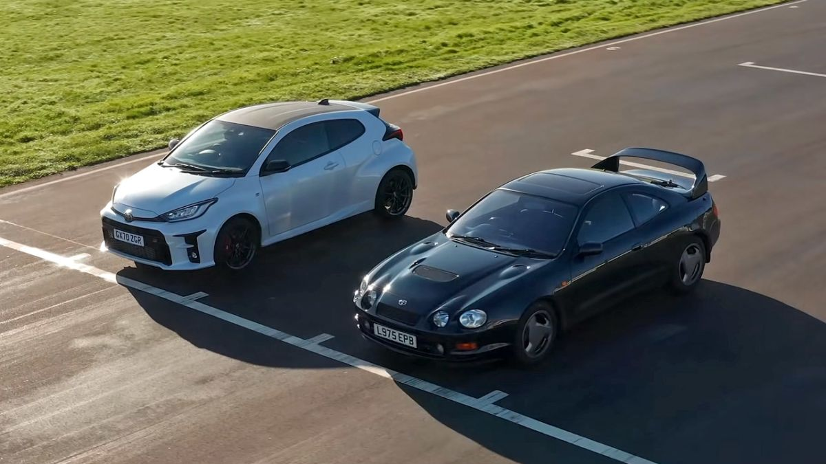 The GR Yaris shows just how fast it really is in front of the Celica GT-Four