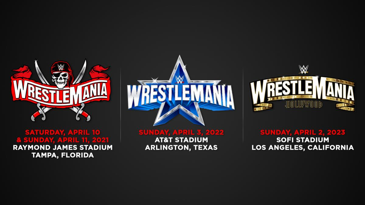 WrestleMania is set to Tampa Bay in 2021;  Dallas in 2022;  Los Angeles in 2023